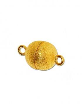 Magnetverschluss Kugel o. Rand ø 10, 925 vergoldet gebürstet - VE 1 St.