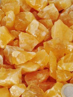 Orangencalcit in verschiedenen Größen erhältlich (S-M) - S - VE 3 kg