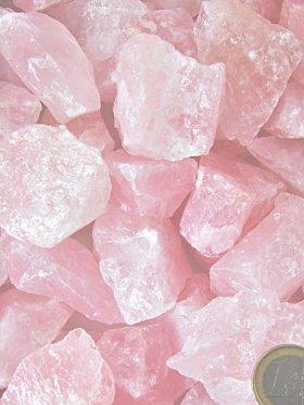 Rosenquarzbrocken in verschiedenen Größen erhältlich (S-XXXL) - L - VE 9 kg