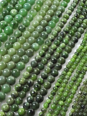 Jade Nephrit, Kugel, Strang