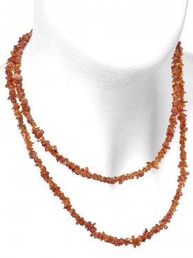 Hessonit, Splitterkette, Länge ca. 90 cm, 1 Stück