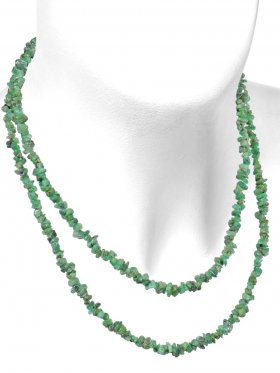 Smaragd, Splitterkette, Länge ca. 90 cm, 1 Stück