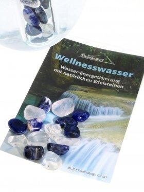 Trinkmischung für das Reagenzglas, Lebenskraft und Wassergenuss: Sodalit, Bergkristall