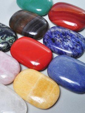 Massage- / Seifenstein, Modell B, verschiedene Steine
