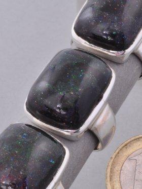 Opal schwarz, Ring, verschiedene Größen - 56