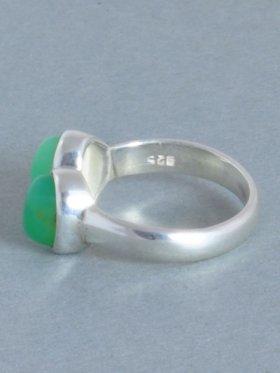 Chrysopras, Ring, Größe 55, Unikat
