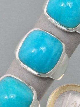Amazonit, Ring, verschieden Größen - 57