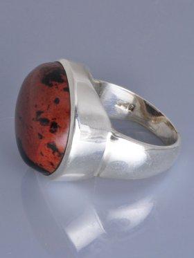Mahagoniobsidian, Ring, Größe 60, Unikat