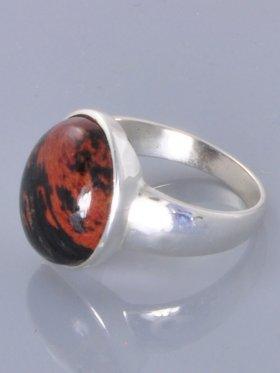 Mahagoniobsidian, Ring, Größe 63, Unikat