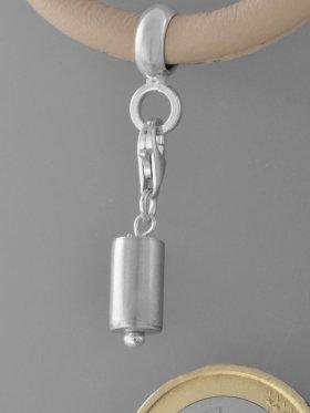 Charm mit Silberrohr, L. ca. 2,5 cm