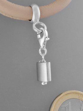 Charm mit Silberrohr flach, L. ca. 2,1 cm