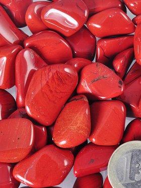 Jaspis rot Trommelsteine, VE 250 g - L
