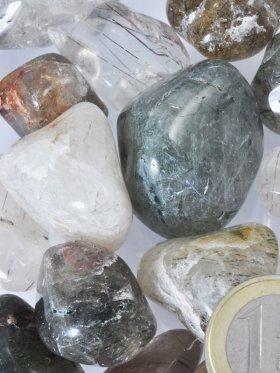 Epidot Quarz Trommelsteine, Größe L-XL, VE 250 g