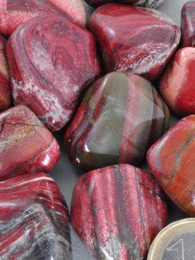 Regenbogenjaspis Trommelsteine, VE 250 g - L