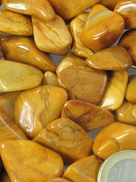 Jaspis gelb, Trommelsteine, verschiedene Größen