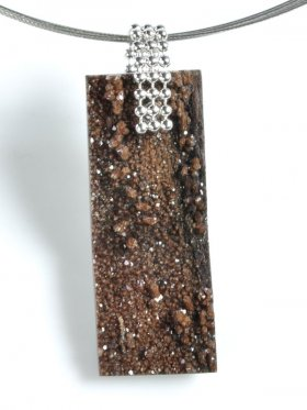 Fossiles Holz mit Bergkristall, Sachsen, Unikat