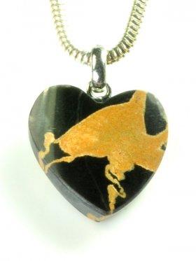 Portoro Marmor Herz, Ligurien, Unikat
