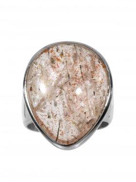Ring aus dem Schmuckstein Sonnenstein, Ringgröße 57, 925 Silber, Einzelstück
