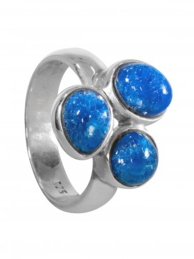 Ring aus dem Schmuckstein Cavansit in 925 Silber, verschiedene Größen erhältlich