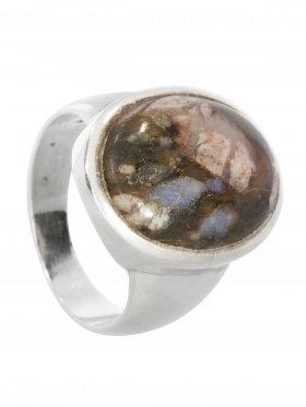 Blue Spot Stone (Rhyolith), Ring, Größe 61, Unikat