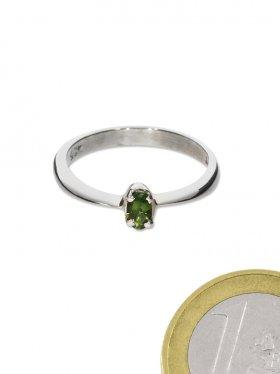 Chromdiopsid aus Russland, Ring, Größe 55, Unikat