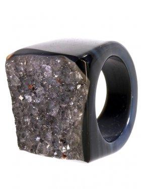 Achat gef., Ring, Größe 51, Unikat