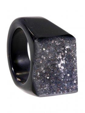 Achat gef., Ring, Größe 53, Unikat