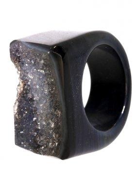 Achat gef., Ring, Größe 52, Unikat