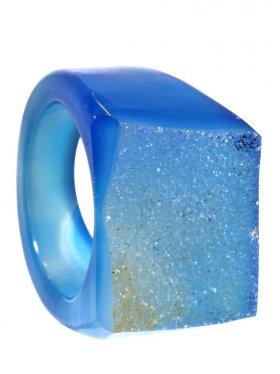 Achat gef., Ring, Größe 57, Unikat