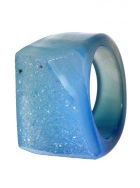 Achat gef., Ring, Größe 60, Unikat