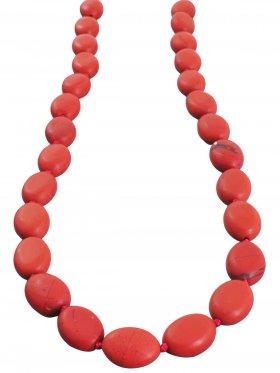Jaspis rot aus Südafrika, Olive matt 14/10 mm, Strang Länge ca. 43 cm, 1 St.