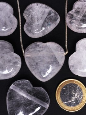 Bergkristall, Anhänger Herz gebohrt