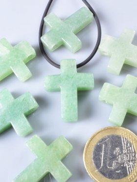 Aventurin, Anhänger Kreuz gebohrt