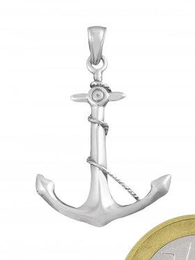 Anker, Anhänger mit Öse in 925 Silber rhodiniert, 1 Stück