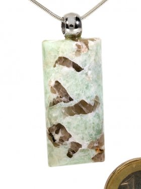 Souvenir aus dem Tessin - Anhänger aus Schriftgranit mit Silberöse