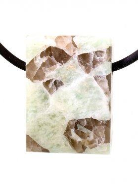 Souvenir aus dem Tessin - Anhänger aus Schriftgranit, seitlich gebohrt, Unikat
