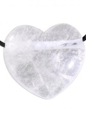 Bergkristall, Anhänger Herz gebohrt, 1 St.