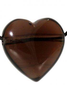 Lamellenobsidian, Anhänger Herz gebohrt, 1 St.