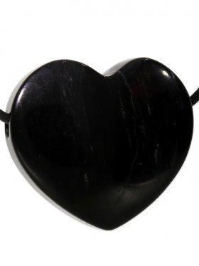 Obsidian, Anhänger Herz gebohrt, 1 St.