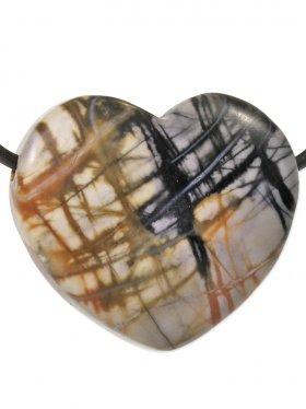 Picasso - Marmor, Anhänger Herz gebohrt, 1 St.