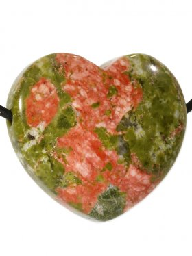 Herz gebohrt in verschiedenen Steinarten, 1 St.