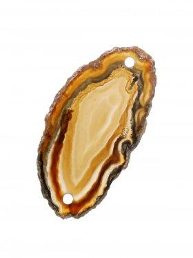 Achatscheibe gefärbt (Erdtöne), 2-fach gebohrt, Modell 3, 1 St.