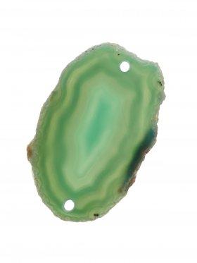 Achatscheibe gefärbt (Grüntöne), 2-fach gebohrt, Modell 3, 1 St.