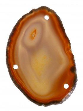 Achatscheibe gefärbt (Erdtöne), 3-fach gebohrt, 1 St.