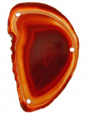 Achatscheibe gefärbt (Rottöne), 3-fach gebohrt, 1 St.
