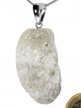 Kettenanhänger aus dem Schmuckstein Beryll, Silber rhodiniert, Einzelstück