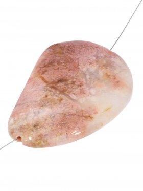 Moosachat pink, Element zum Fädeln, 1 St.