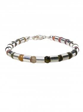 Egypt Collection - Halsketten und Armbänder aus Edelsteinen mit Silberröhrchen