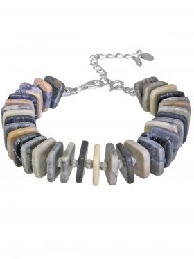 EARTH-Collection, Armband No. 4, Silber rhodiniert