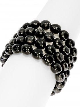 Shungit, Armband Nugget 10 -12 mm, 1 Stück